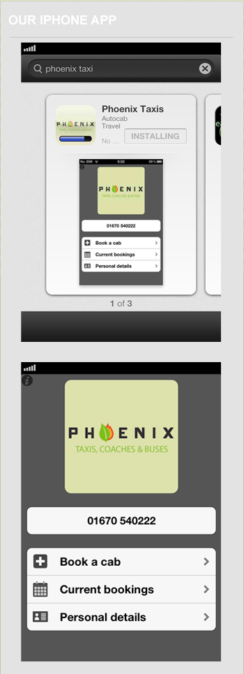 Our very own #iphone #app @phoenixtaxis