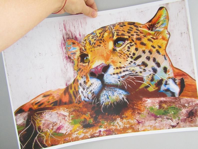Jaguar Print Jaguar Art Jaguar Art Print Jaguar Wall Art Etsy In 2021 Art Art Prints Etsy Wall Art