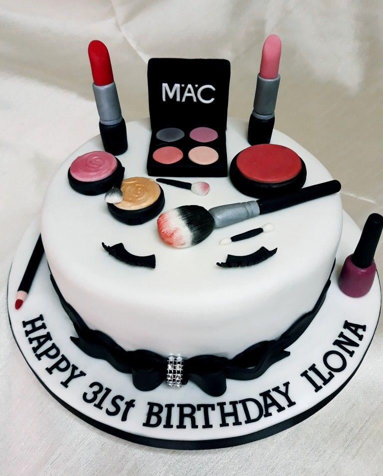 Makeup Fondant Cake Make Up Cake Mac Cake Cake