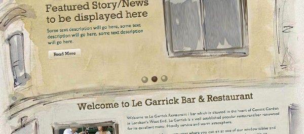 Le Garrick's Brand New Website   Le Garrick Restaurant & Bar