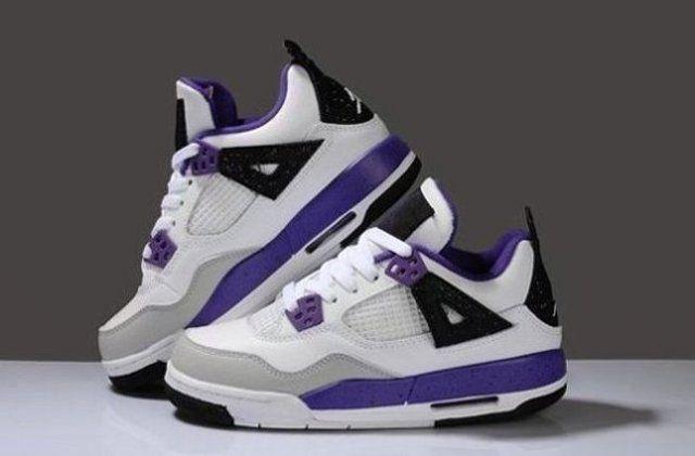e33657d2284b Hot Sell Discount Nike Air Jordan 4 IV Retro Womens Shoes White Grey Black   EbayWomensShoes  retrowomenshoes