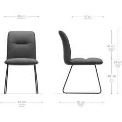 Photo of Delife dining chair Vinjo-Flex beige vintage sled frame stainless steel, dining …