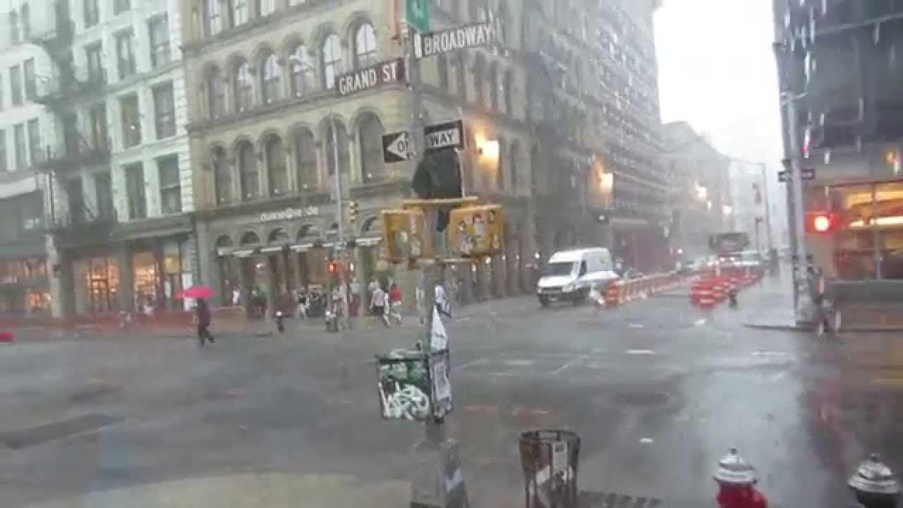 It's summer time! Torrential summer rain in New York City. Simply beautiful. #rain #NYC #NewYork #summer #storms #Manhattan #Broadway