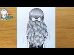 How to Draw A Girl with Wavy Hair for Beginners || Wavy Hair Drawing Tutorial || Pencil Sketch