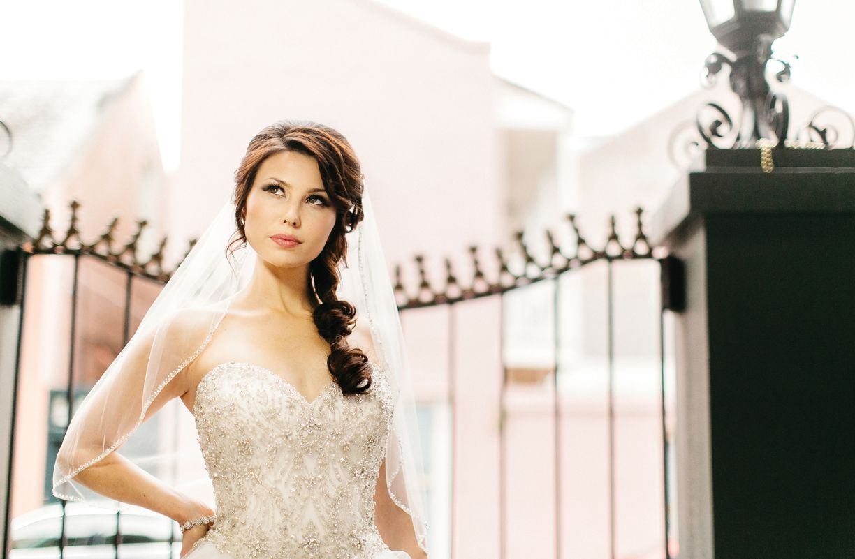 5d7951bb51e9d Summer at the Dupuy - Photographer: Titus Childers Venue: Maison Dupuy  Dresses and Accessories: Bustles and Bows Bridal Boutique Hair and Makeup:  Flawless ...