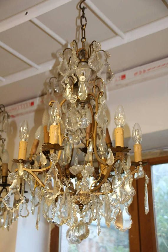 French vintage crystal chandelier gilt bronze crystal chandelier french vintage crystal chandelier gilt bronze crystal chandelier crystal chandelier french chic style aloadofball Images