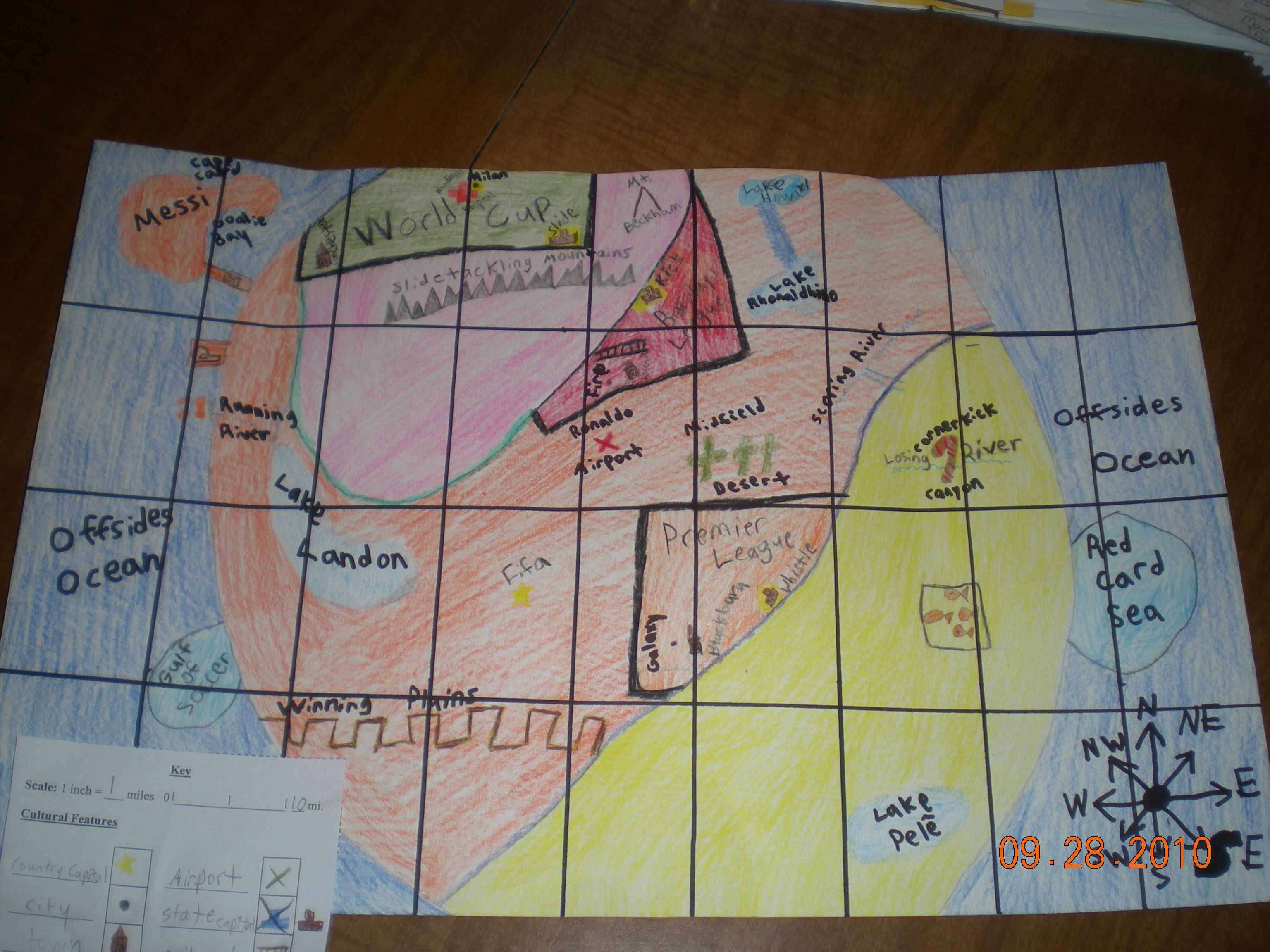 Five Themes Of Geography Map