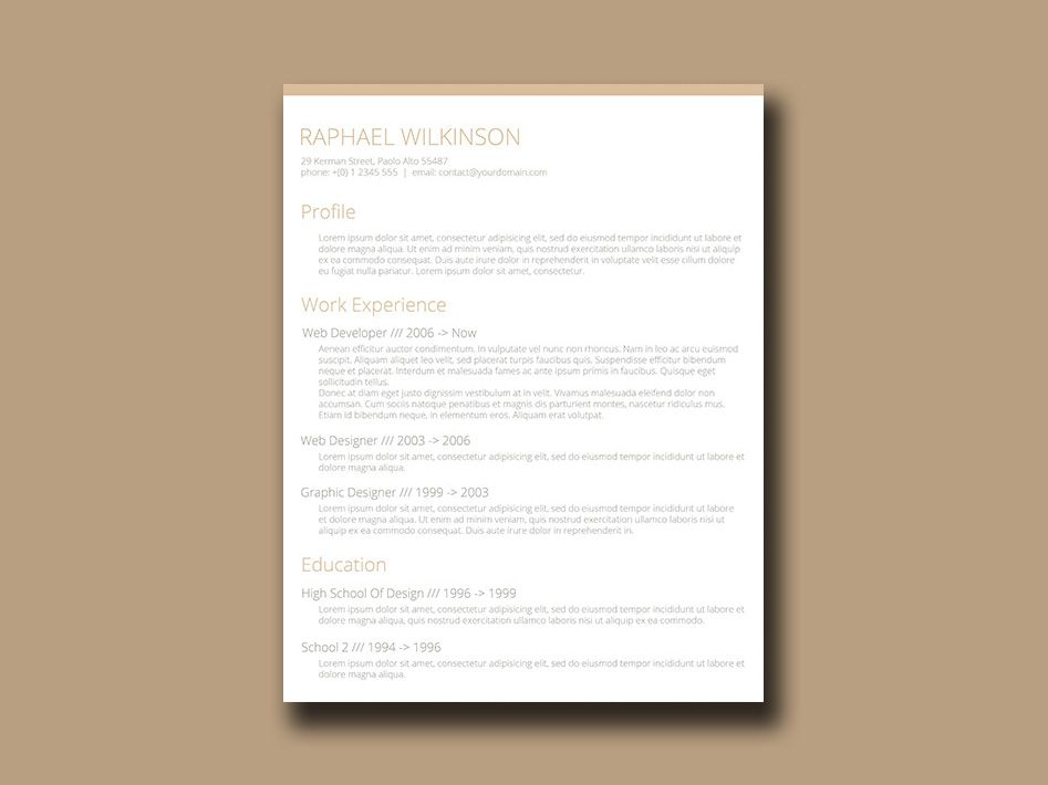 Cv Document Here Is Free Crafty Resume Template With Casual Designeach Element .