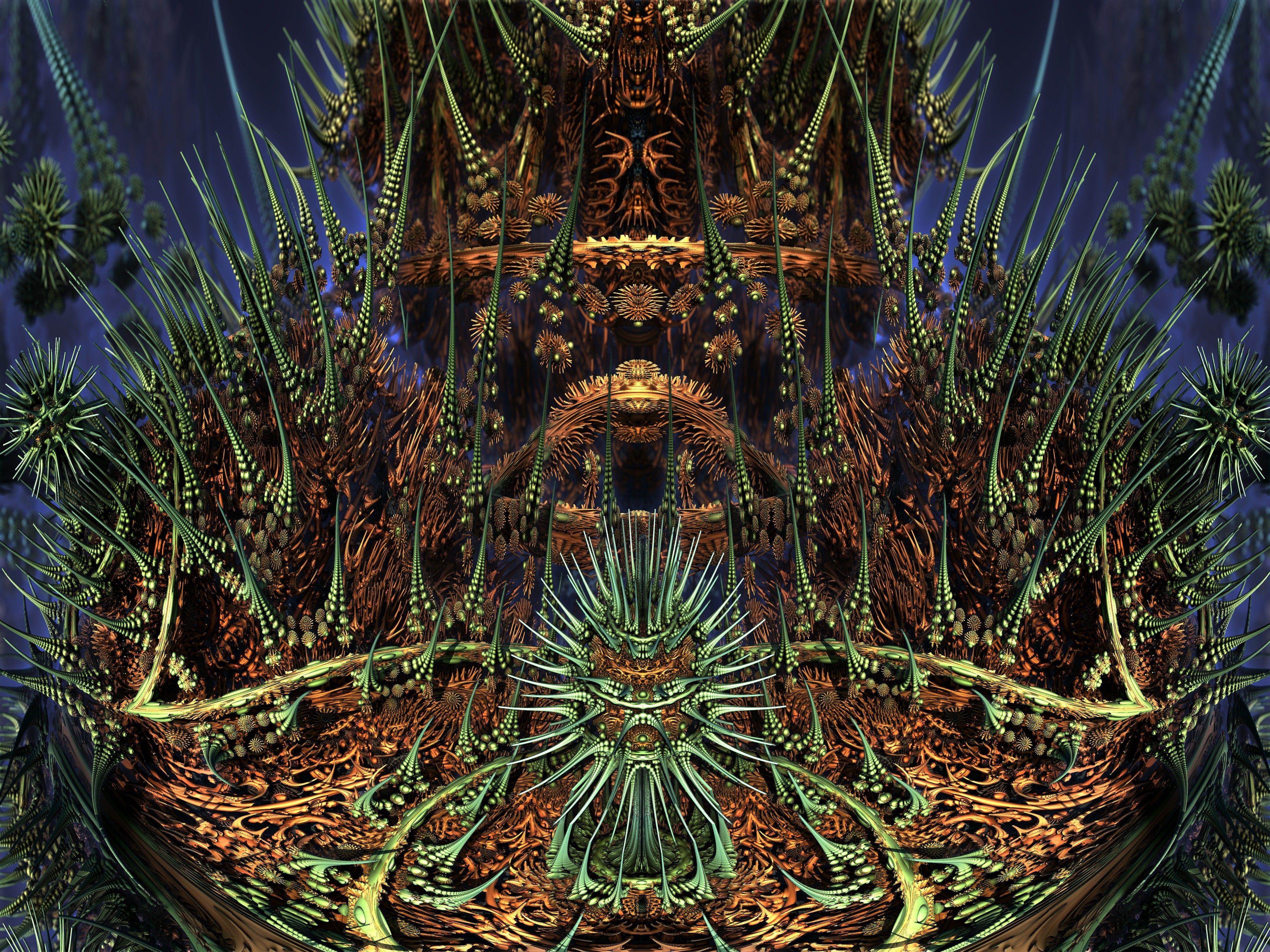 ABoxPlatinumBulb fram 1139 - Mandelbulb 3D fractal by