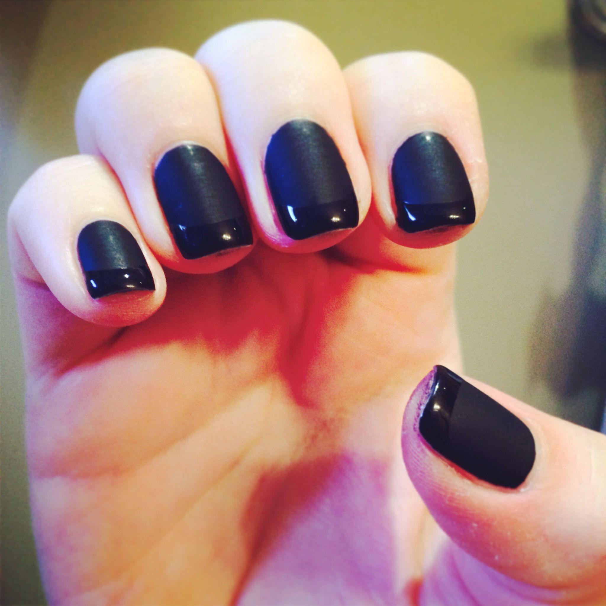 Black Matte French Gel Nail Art College