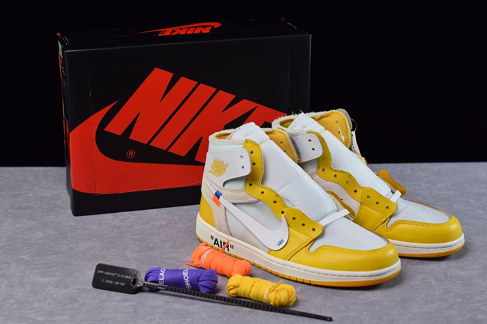 Off White X Air Jordan 1 Canary Yellow Air Jordans Off White