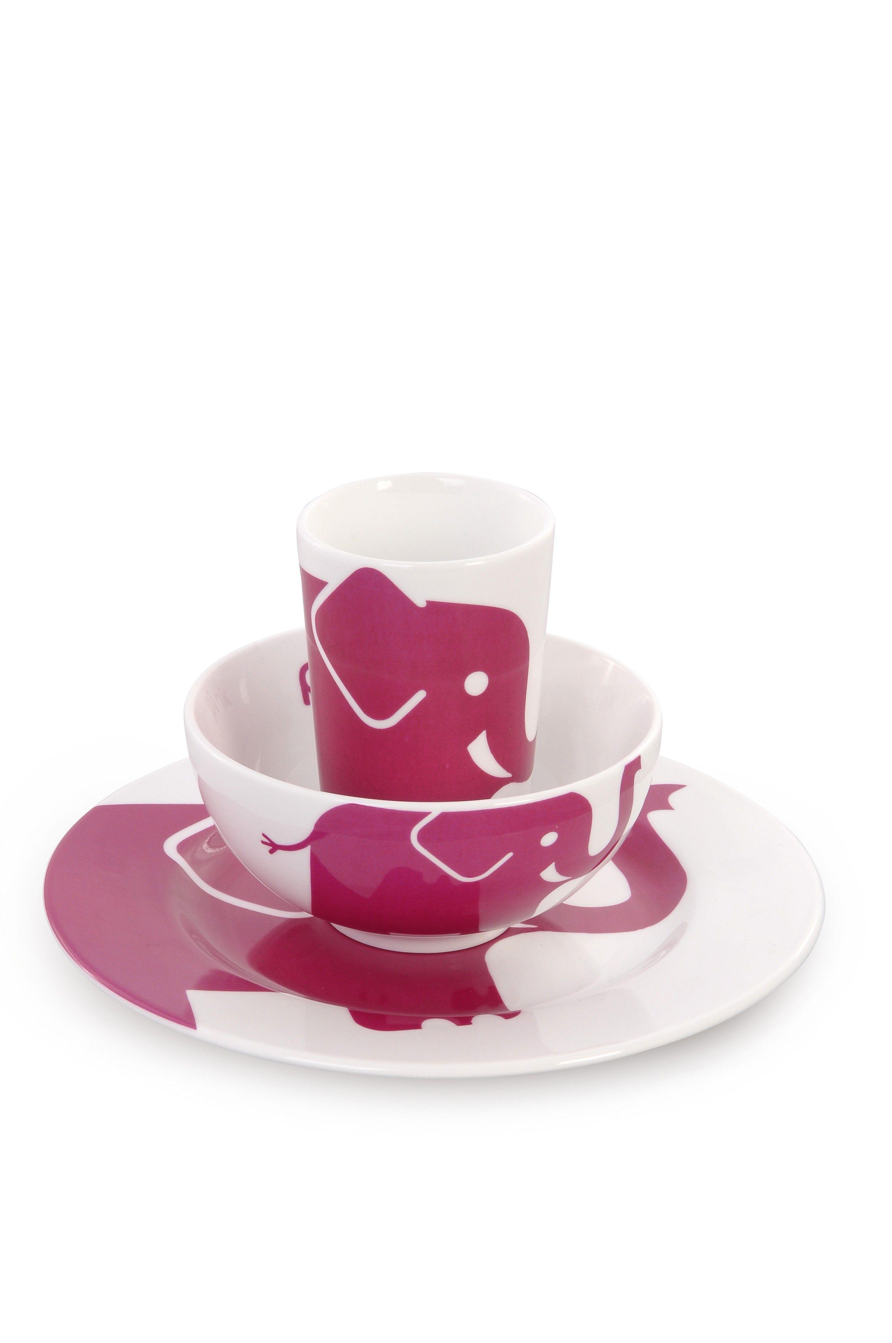 Pink Elephant Childrens Tableware Set From Colourful Dove Pink Elephant Childrens Tableware Set From Colourful Dove In 2020 Tableware Set Tableware Tableware Design