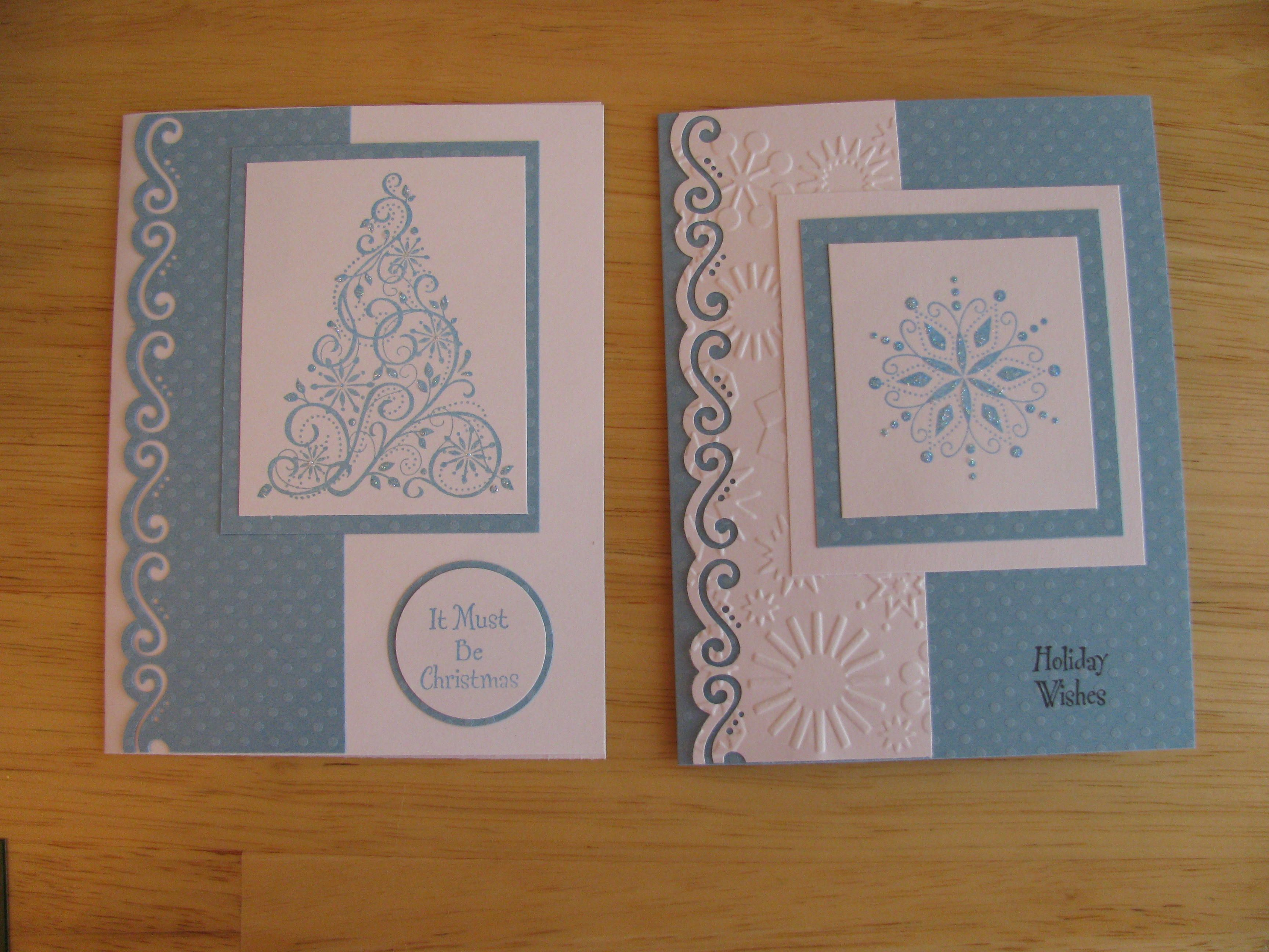 christmas card making ideas stampin up