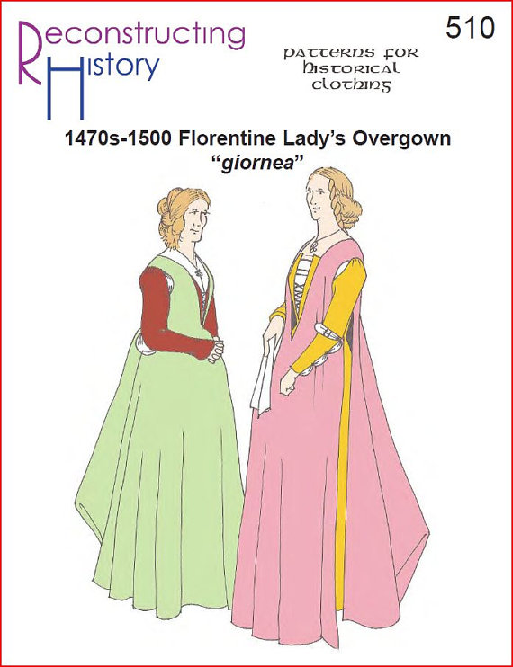RC510 - 1470s-1500 Florentine Lady's Overgown Sewing Pattern