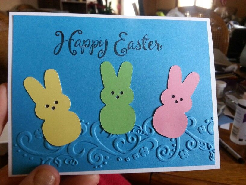 "Inside says, To all my wonderful ""peeps. ""  Have a great day!"