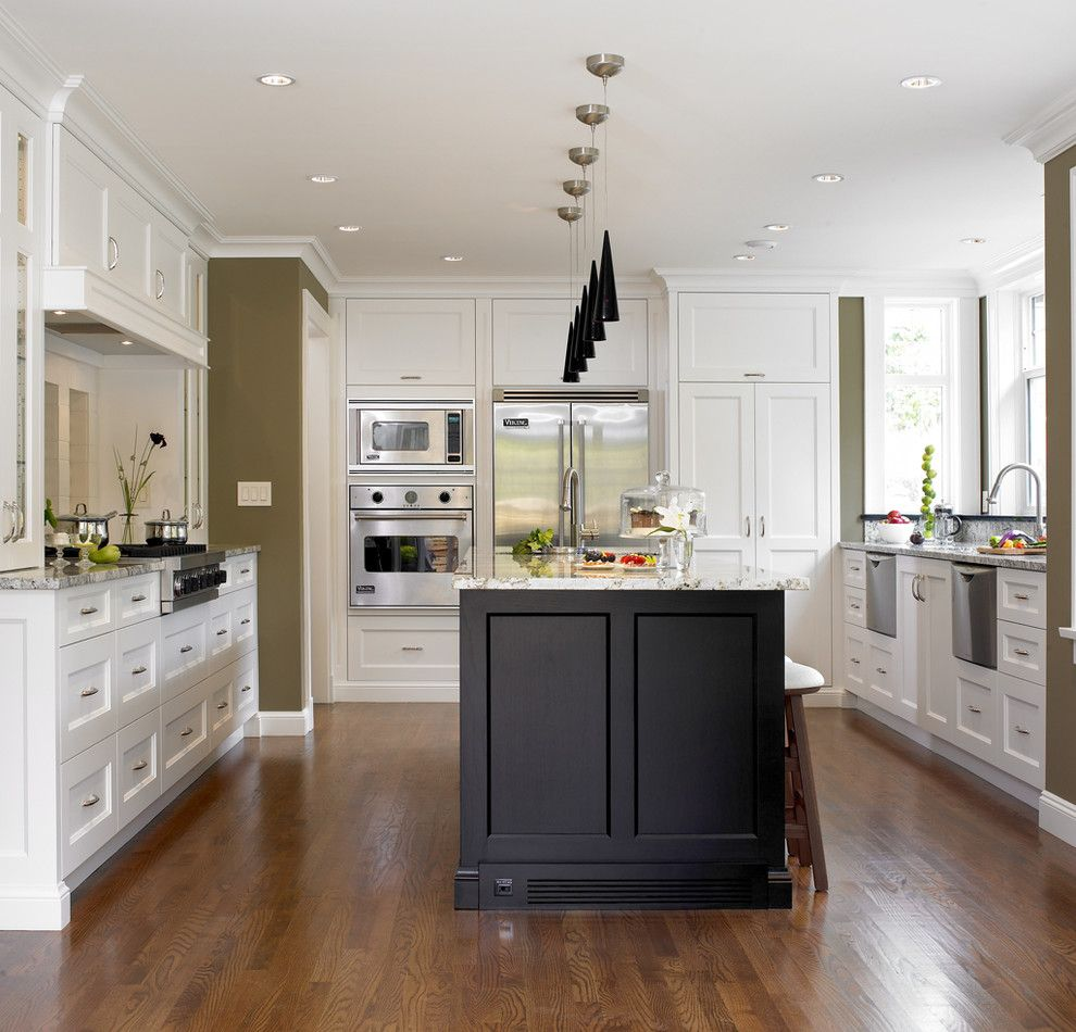 Black And White Kitchen  Kitchens  Pinterest  Transitional New Transitional Kitchen Design Decorating Inspiration