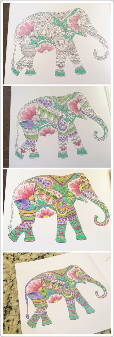 Animal Kingdom Colouring Book Love This Elephant Find Pin And More On Coloring