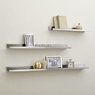 Display Shelves Picture Ledges Shelves Bathroom Wall Shelves Silver Walls