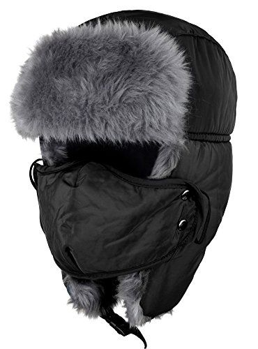 d7e1dcdd2fb ODEMA unisex winter ear flap hat keeps the wind off your face and head. The  exterior of the hat is soft and the warm faux fur liner covers your ears  and ...