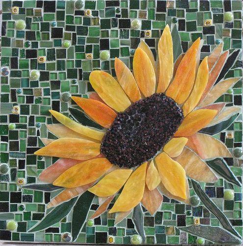 Sunflowr For Mel Sunflower Mosaic Mosaic Flowers Glass Mosaic Art