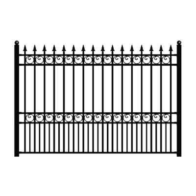 Us Door Fence Pro Series 4 84 Ft H X 7 75 Ft W Navajo White Steel Fence Panel F2ghds93x58nwus Iron Fence Panels Metal Fence Panels Iron Fence