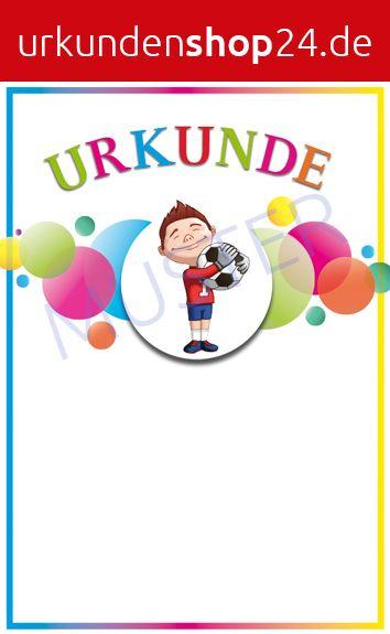 Sporturkunde Fussball Kinder Www Urkundenshop24 De Urkunde