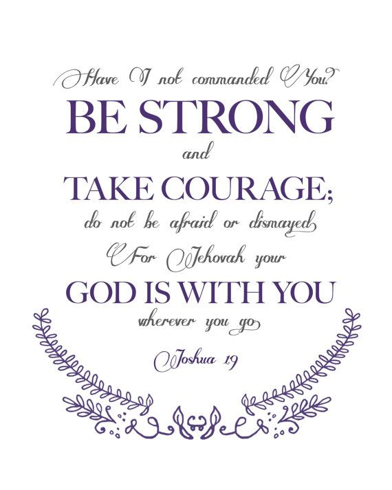 Bible Verse Joshua 1:9 Quote (Great for framing) on Etsy, $8.00