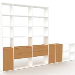 Photo of Regalsystem Weiß – Regalsystem: Schubladen in Eiche & Türen in Eiche – Hochwertige Materialien – 342