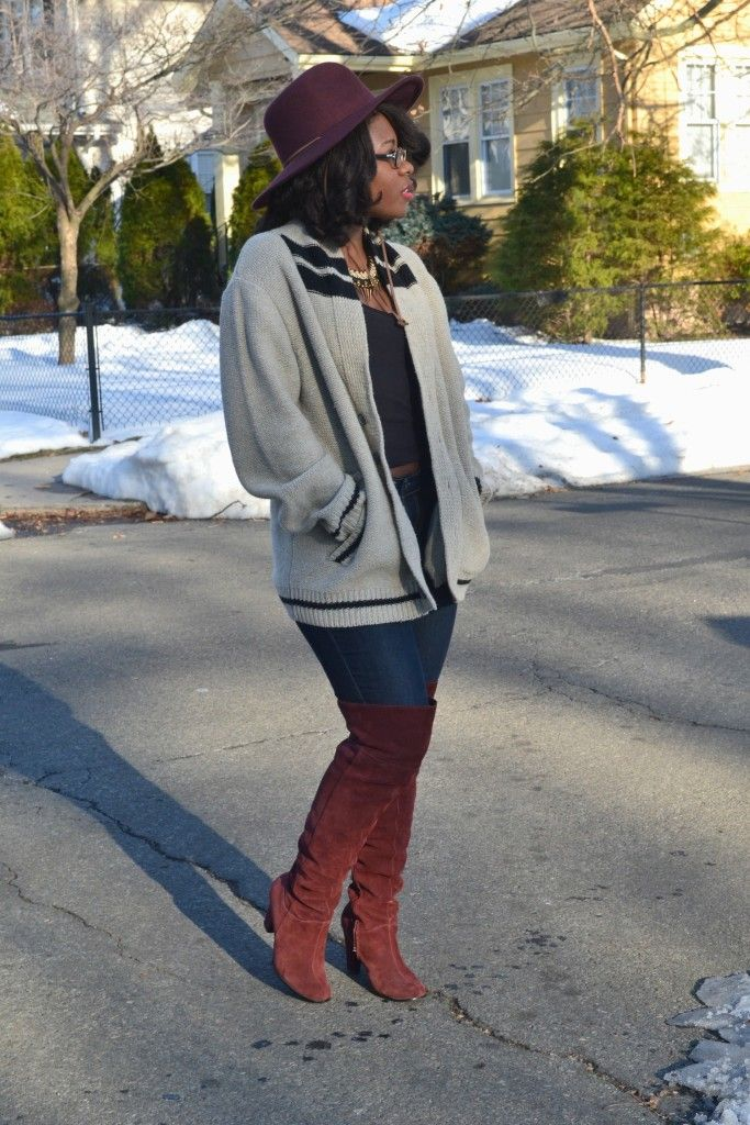 Thrifty Threads  How to Wear Over the Knee Boots in a Casual Way ... b517178a3ca9