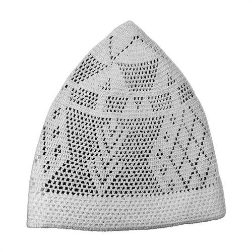 White Kufi Muslim Turkish Cotton Prayer Men boys Skull Cap Islamic Hat Knit  Topi Only  6.99! 85467077faab