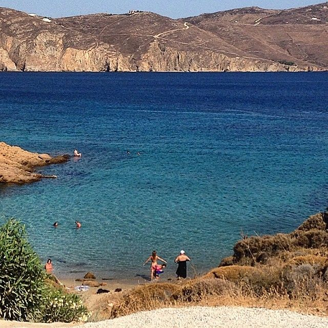 #wanderlust #mykonos #greece #beautiful #beach #eurotrip14 #picoftheday  (at Agios Sostis)