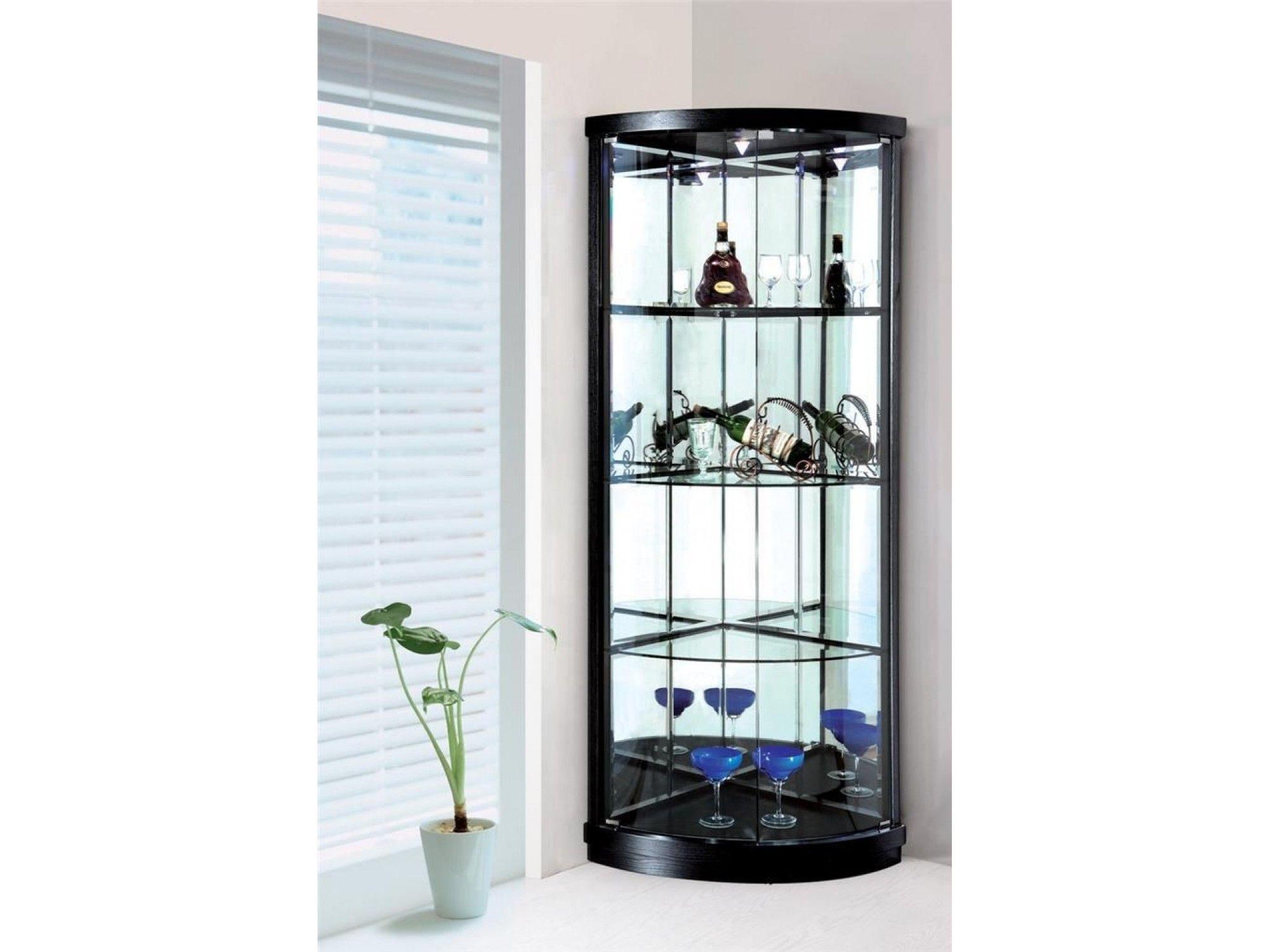 Small Glass Corner Display Cabinet
