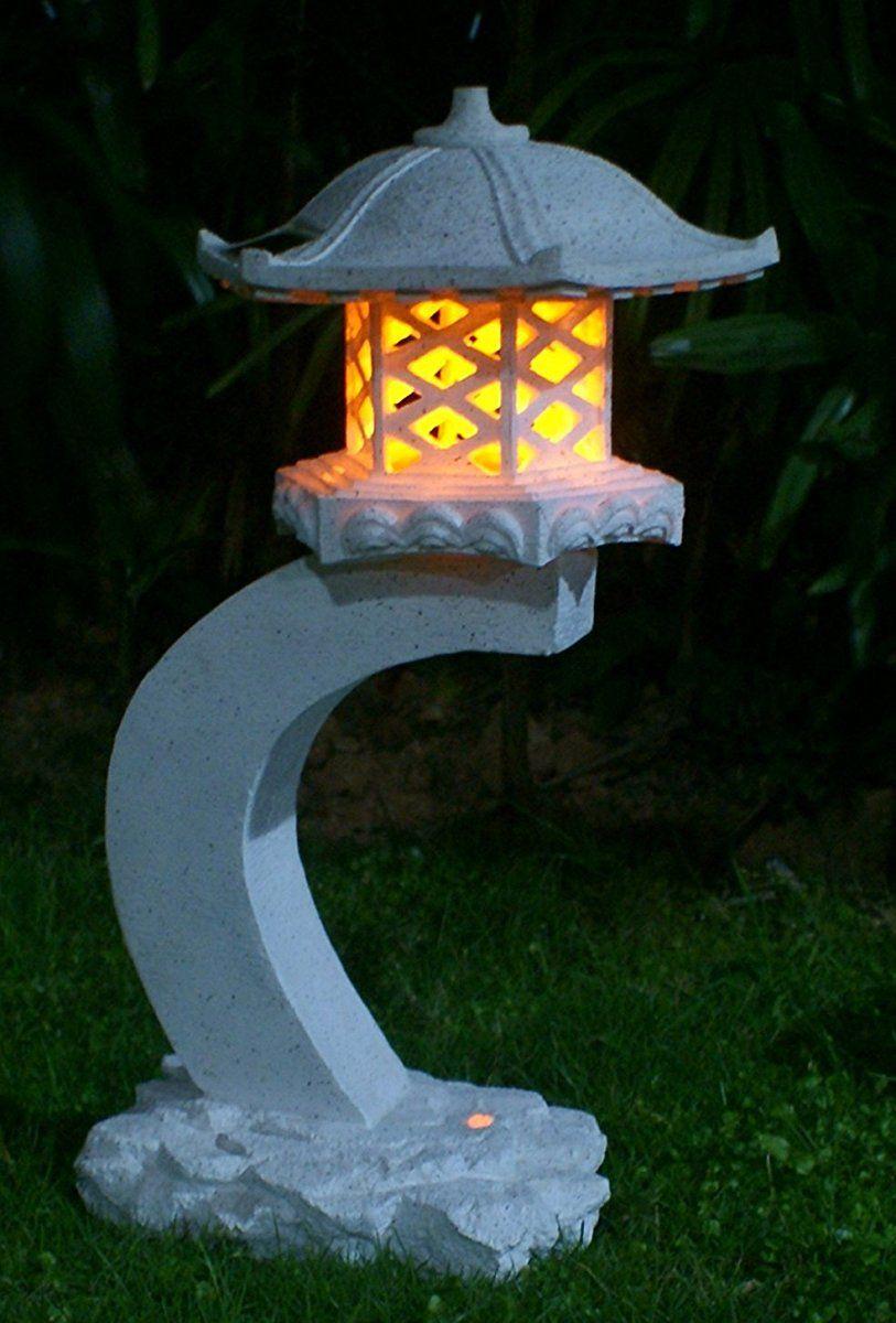 50 cm LED Solar Steinleuchte ca