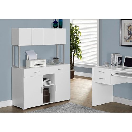 White 48-Inch Credenza Credenza and Products