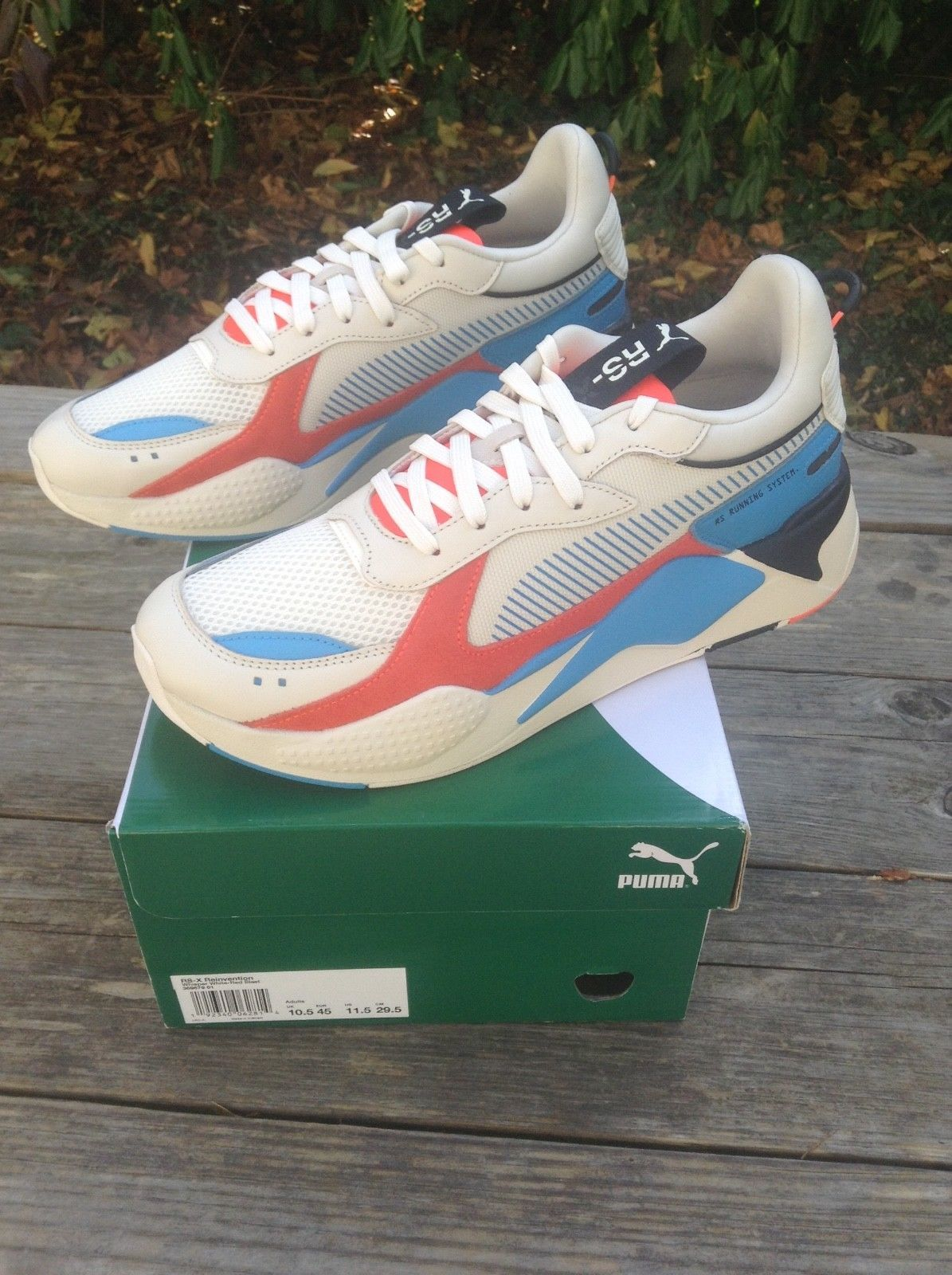 d70d6aceee9 Puma RS-X Reinvention Whisper White Red Blast Sz Men s US 11.5 ...
