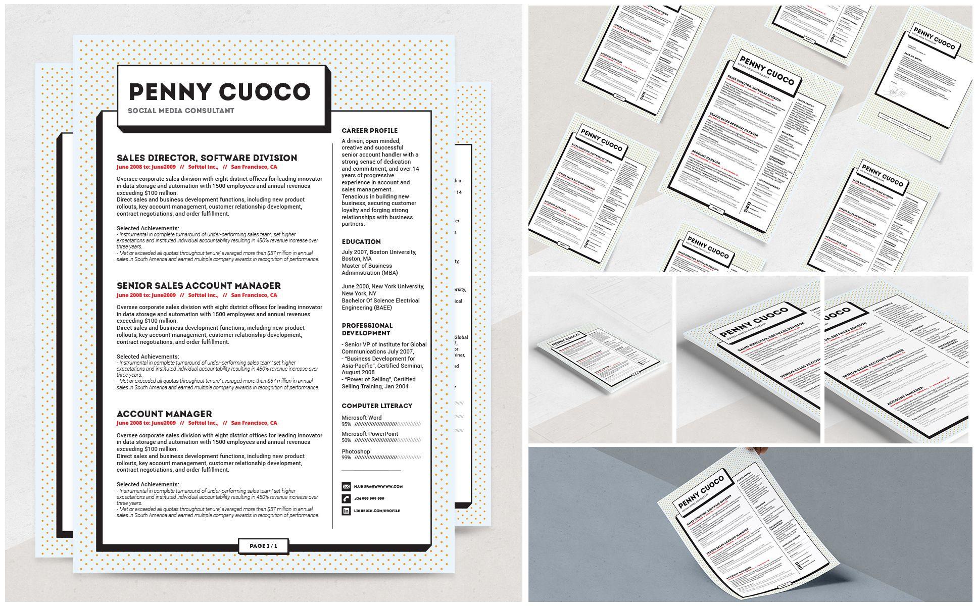 Zonje Resume Template 69236 Microsoft word resume