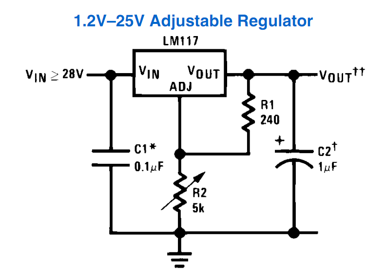 lm 317 variable power supply
