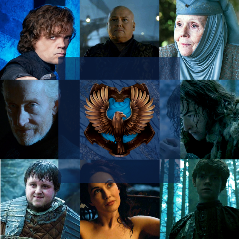 Game Of Thrones Characters Sorted In Harry Potter Houses Rawenclaw Hogwarts Always Harry Potter Ravenclaw
