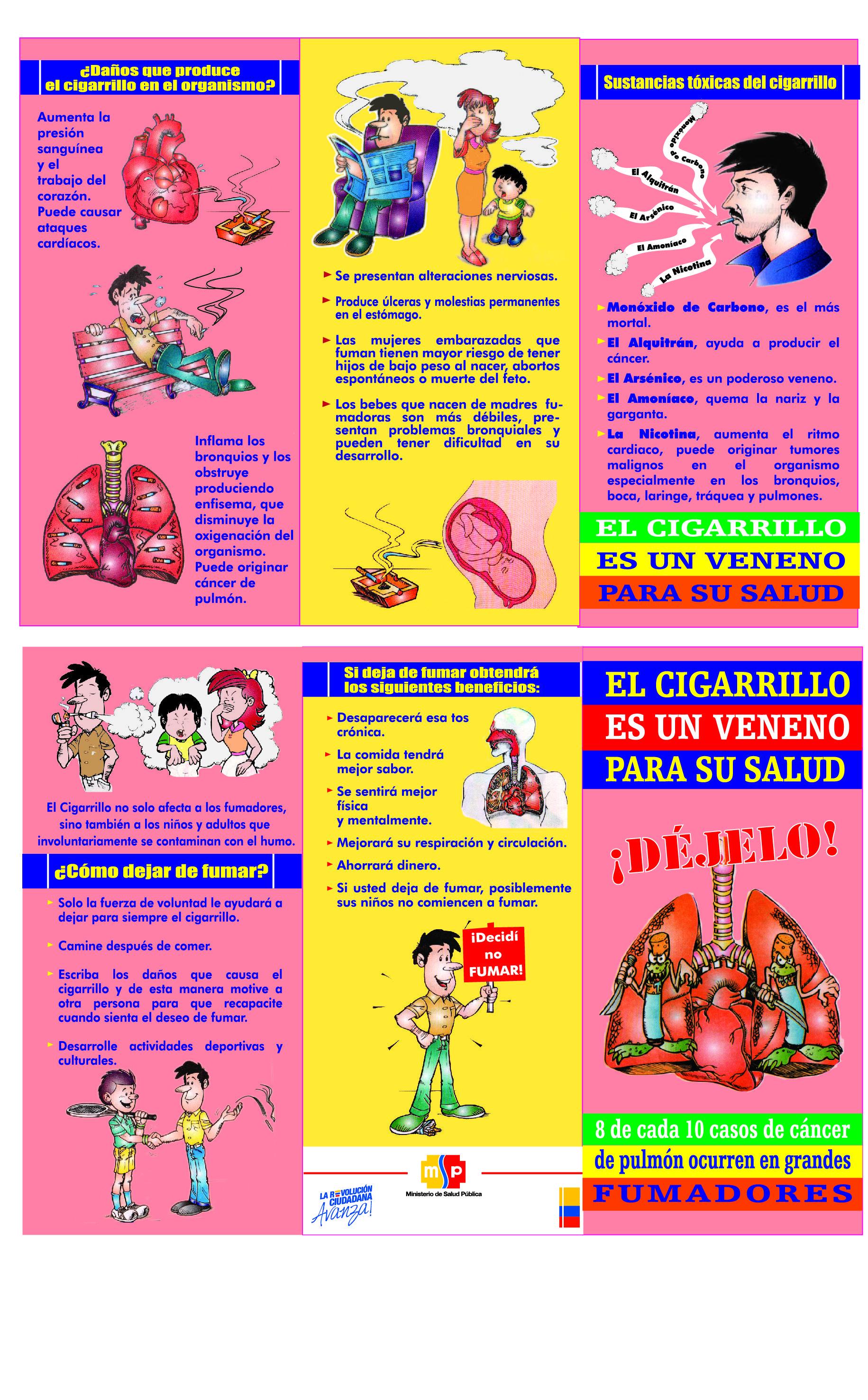 Tr ptico de prevenci n del cigarrillo cliente ministerio for Ministerio de consumo