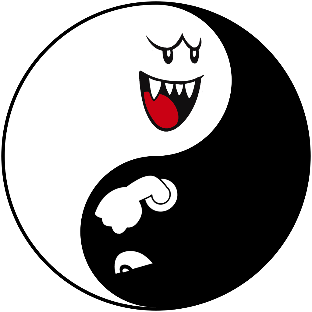 Yin yang iphone wallpaper - Boo Bullet Bill Yin Yang Iphone Wallpaper