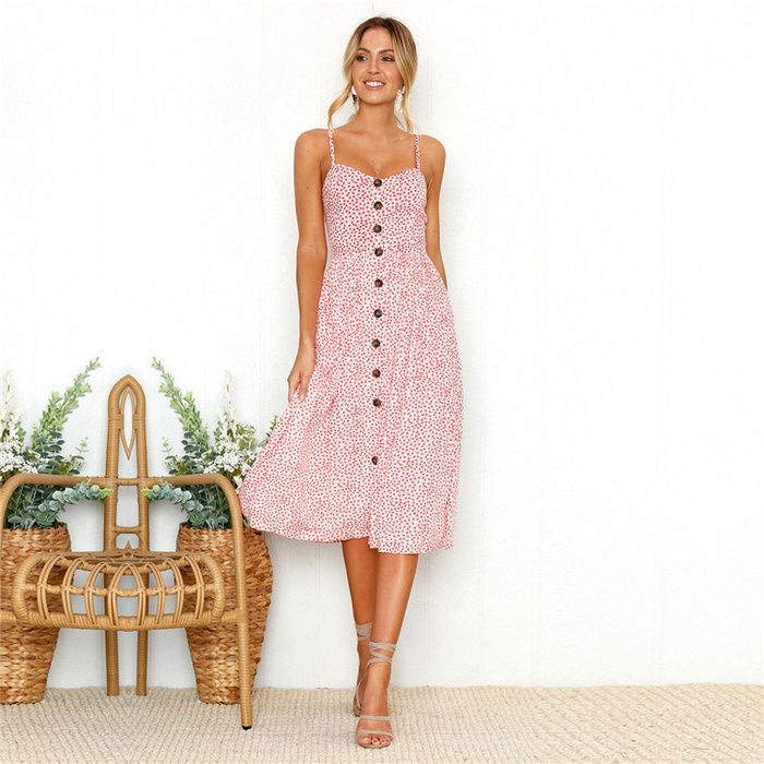 5ca1069080 ... Maxi Evening Party Beach Long Dress. Summer Bright And Fresh Dresses  With Broken Flowers V-neck And Shoulder-exposed Women's Dresses