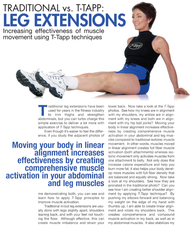 T Tapp Leg Extensions Click Through Pin For Exercises