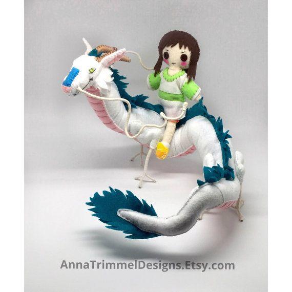 Chihiro Spirited Away Dragon Haku posable by annatrimmeldesigns