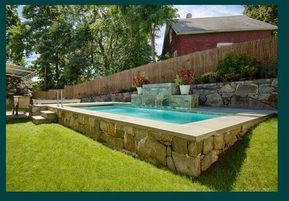 Above ground pool design shoreline pools pinterest for Teich design new york