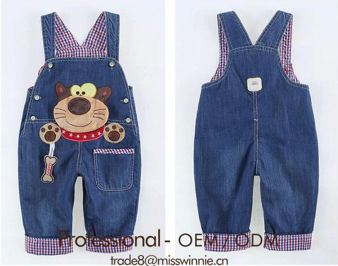 Ropa bebe niño niño lindo de dibujos animados overol pantalones de  jean-imagen-Jeans para niños -Identificación del  producto 60049876453-spanish.alibaba.com cca011bb926d