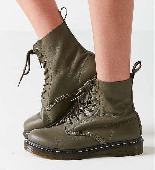 Airwair Dr. Martens Boots Schuhe Stiefel Olive Gr. 46 AR | eBay