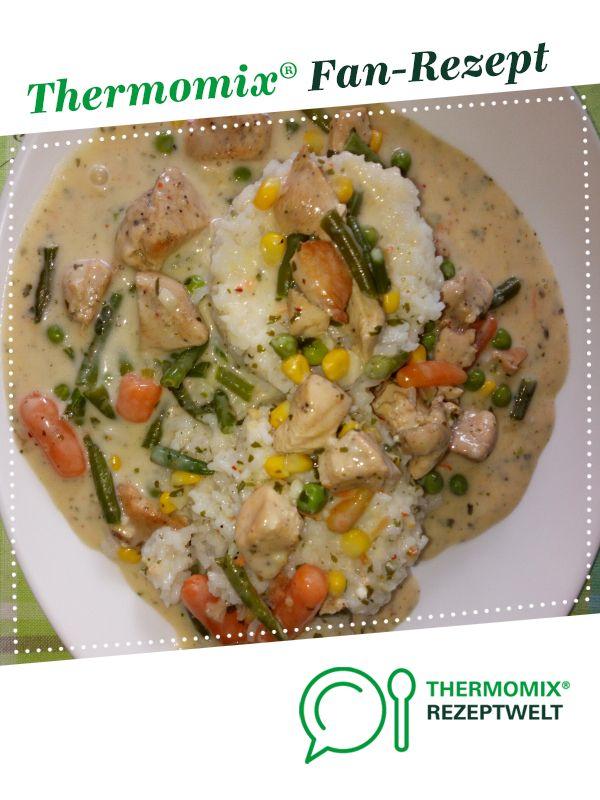 HähnchenTopf mit Reis und Gemüse