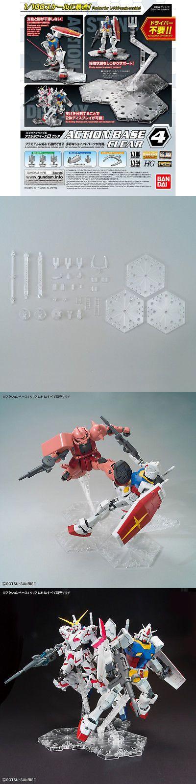 Bandai Gundam Action Base 5 Clear Gunpla 1//144 Scale Display Stand USA Seller