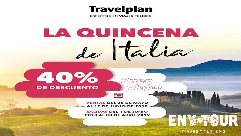 Travelplan La Quincena De Italia A Las 12 Italia Feliz