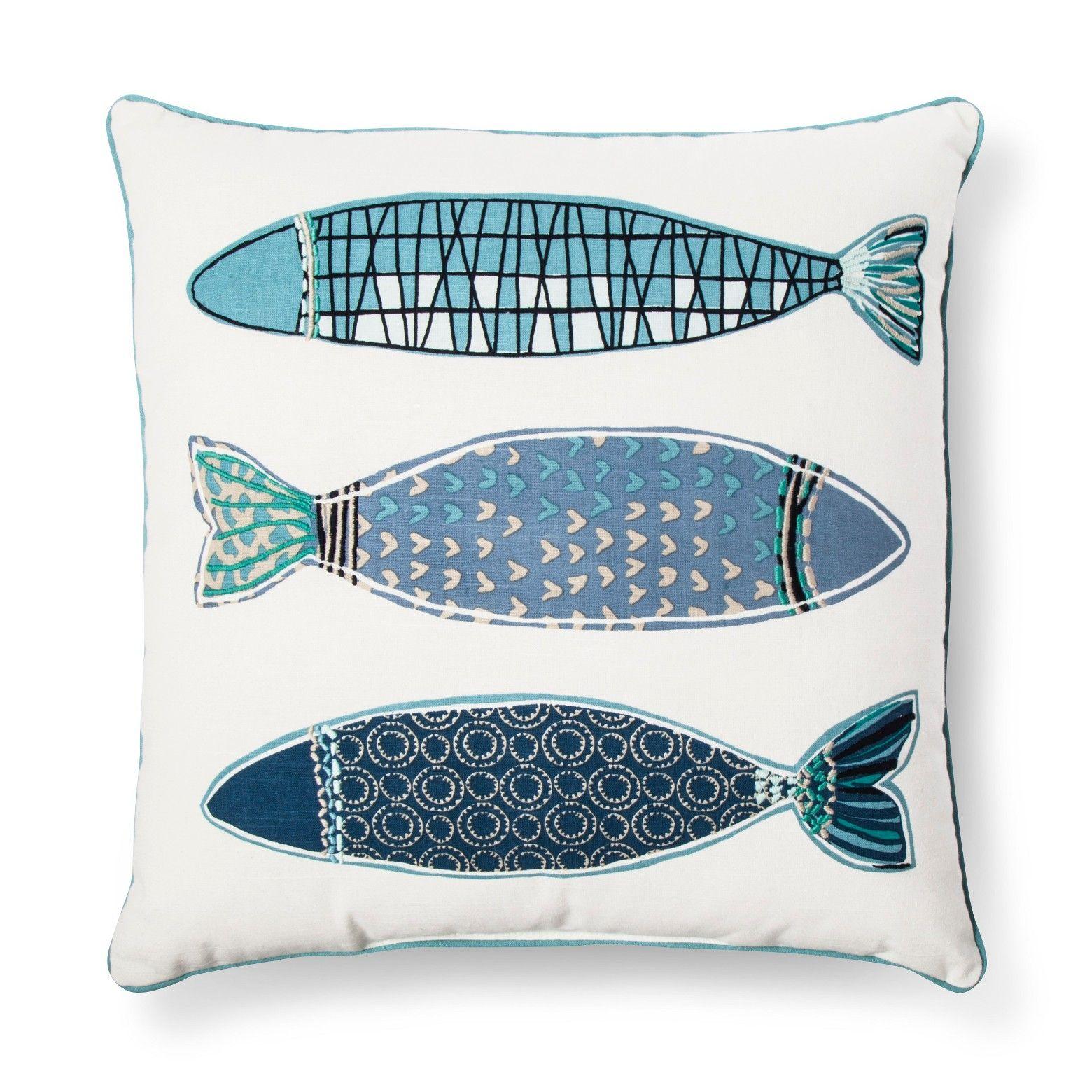 Target 19 Fish Throw Pillow Throw Pillows Fish Pillow